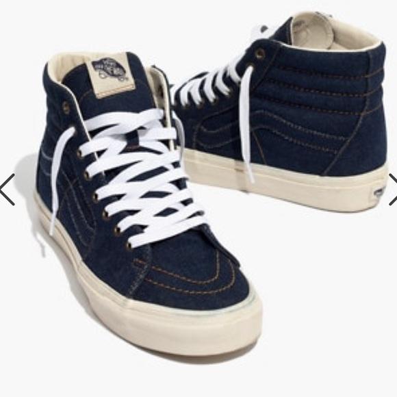 14e7c19704 Madewell X Vans Unisex Sk8-Hi High-Top Sneakers